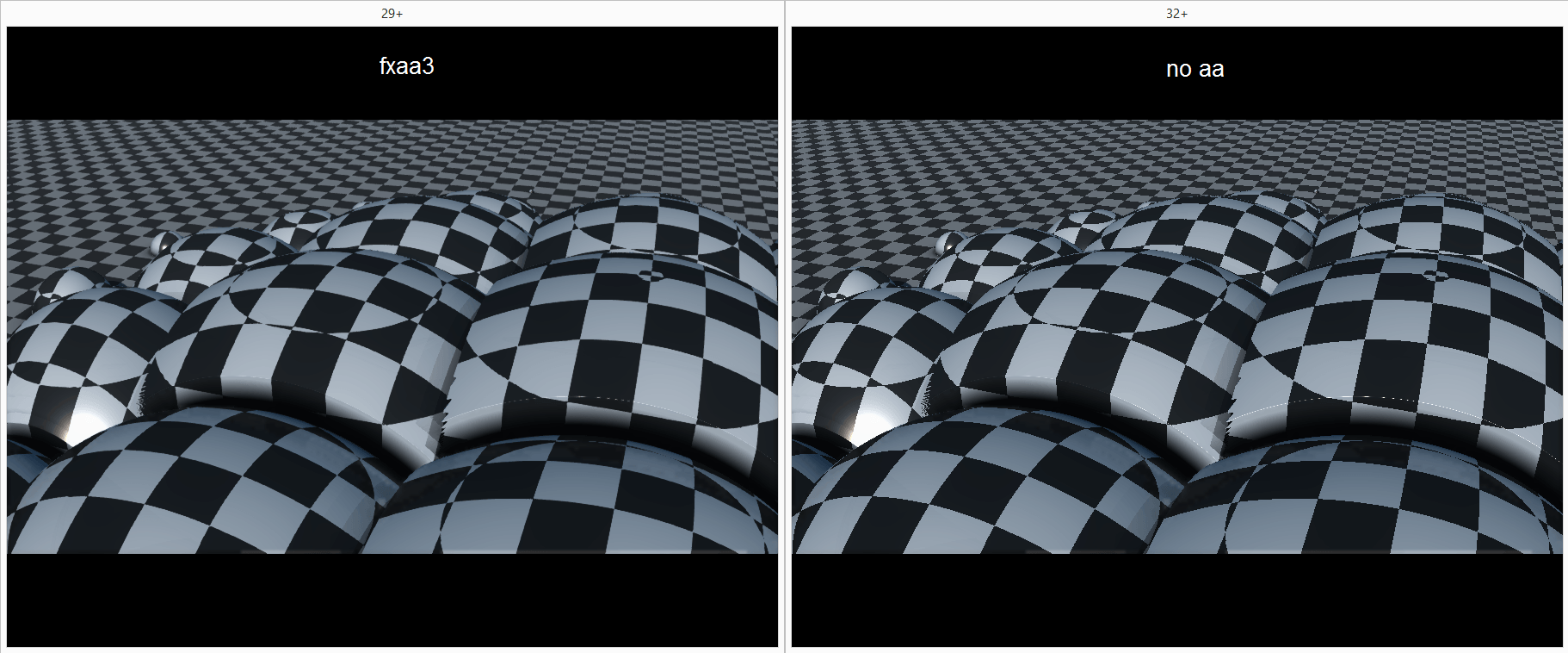 Image showing off fxaa3 (left) and no aa (right)