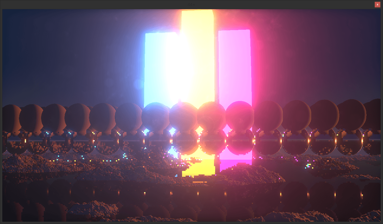 Image showing off 3 colors of bloom